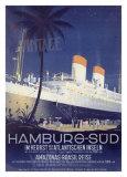 Hamburg to America Line Giclee Print by Ottomar Anton