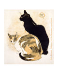 Cats Giclee Print by Th&#233;ophile Alexandre Steinlen