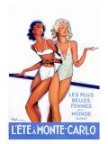 L'Ete a Monte Carlo Giclee Print by Jean-Gabriel Domergue