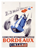 Grand Prix International de Vitesse, Bordeaux Giclee-vedos