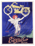Terrot and Cie Motorcycle Giclee Print by Robert Guzarl