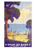 Evian les Bains Giclee Print by Geo Francois