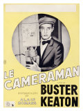 Le Cameraman with Buster Keaton Giclee Print