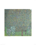 Roses under the Trees Prints by Gustav Klimt