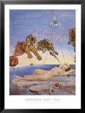 Reve Cause Par Le Vol D'une Abeille Auto Posters by Salvador Dalí