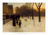 Boston Common at Twilight, 1885-86 Prints by Childe Hassam