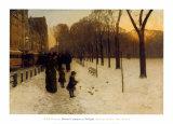 Paseo de Boston en el crepúsculo, 1885-86 Pósters por Childe Hassam