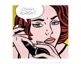 Na gut... Poster von Roy Lichtenstein