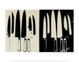Knives, c. 1981-82 (giclee) (cream and black) Arte por Andy Warhol