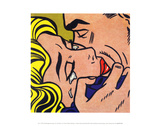 Le baiser V, 1964 Affiches par Roy Lichtenstein