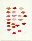Lips Poster by Andy Warhol