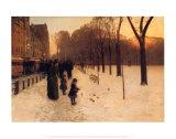 Boston Common au crépuscule,1885-86 Affiches par Childe Hassam