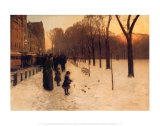 Paseo de Boston en el crepúsculo, 1885-86 Láminas por Childe Hassam