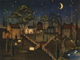 Village Night Prints by Kim Lewis