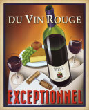 Du Vin Rouge Exceptionnel Art by Steve Forney