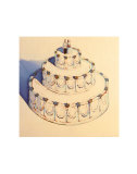 Wedding Cake, 1962 Prints by Wayne Thiebaud