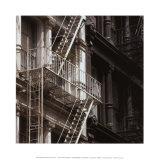 Escalier de secours Poster