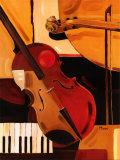 Violín abstracto Lámina por Paul Brent