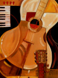 Abstract Guitar Print by Paul Brent