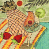 Tropical Drink Prints by Penny Feder