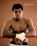Muhammad Ali Resting on Ropes Poster