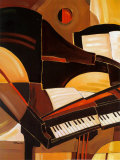 Abstract Piano Posters by Paul Brent