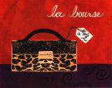 Leopard Handbag I Poster by Jennifer Matla