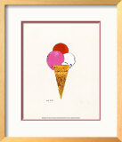 Ice Cream Dessert, c. 1959 (red, pink and white) Posters by Andy Warhol
