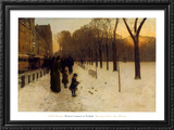 Boston Common at Twilight, 1885-86 Poster by Childe Hassam