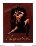 Argentinien Poster von David Marrocco