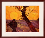 Farmer At Sunset Prints by Vincent van Gogh