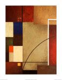 赤い矩形I 高品質プリント : ウィリアム・ヴァーナー