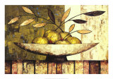 Apples on Silk Prints by Constance Bachmann