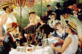 The Oarsmens Breakfast Plakat af Pierre-Auguste Renoir