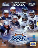 Super Bowl XXXIX Matchup Composite - Patriots vs. Eagles Photo