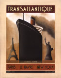 Transatlantique Posters by Jo Parry