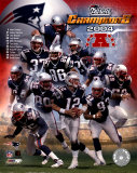Patriots 2004 AFC Champions Team Composite Photo