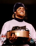 Tom Brady - 2004 AFC Championship Trophy Photo