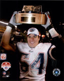 Tedy Bruschi - 2004 AFC Championship Trophy Photo