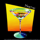 Martini Prints by Mary Naylor