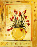 Yellow Vase Print by Gregory Gorham