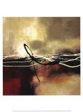 Sinfonía en rojo y caqui II Lámina por Laurie Maitland