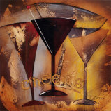 Time for Cocktails II Poster by Susan Osborne