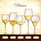 Les Vins Blancs Posters par Andrea Laliberte