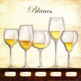 Les Vins Blancs Posters by Andrea Laliberte