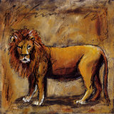 Safari Lion Posters by Tara Gamel