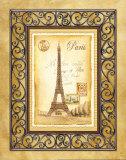 Paris Postcard Posters by Andrea Laliberte