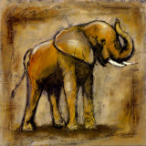 Safari Elephant Art by Tara Gamel