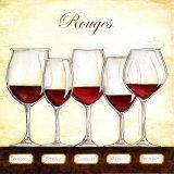 Les vins rouges Affiches par Andrea Laliberte