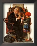 Norman Rockwell - Doctor & Doll Print